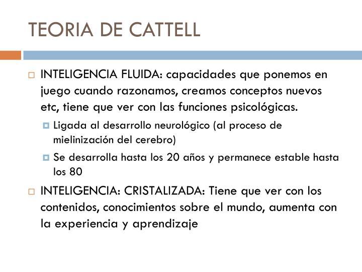 TEORIA DE CATTELL