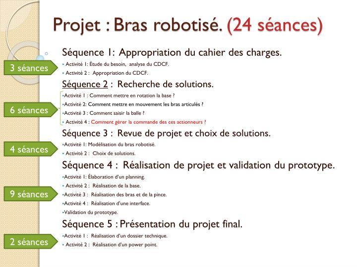 Projet : Bras robotisé.
