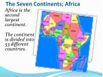 the seven continents africa