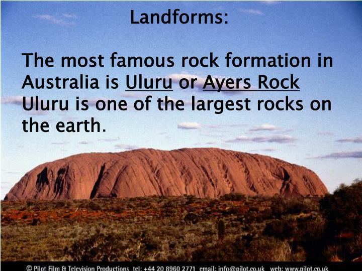 Landforms: