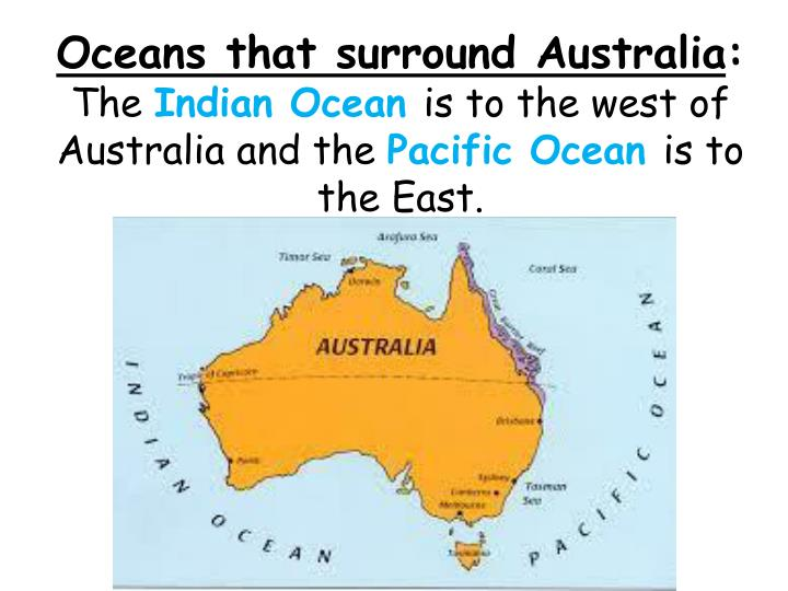 Oceans that surround Australia