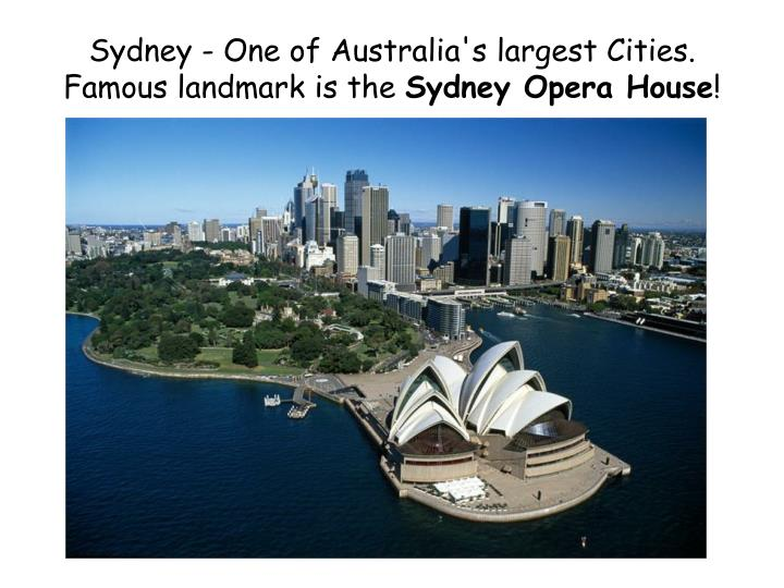 Sydney - One of Australia's largest Cities