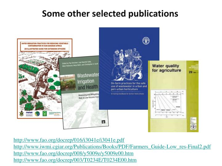 Some other selected publications
