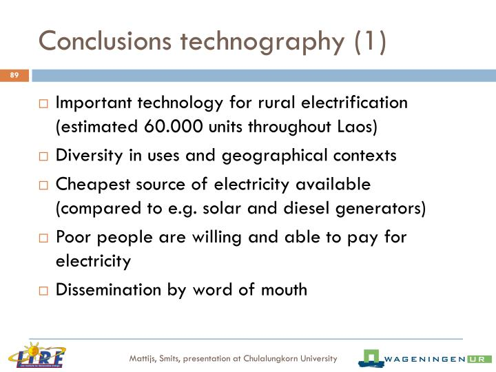 Conclusions technography (1)