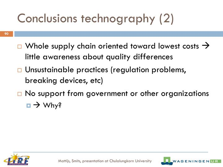Conclusions technography (2)