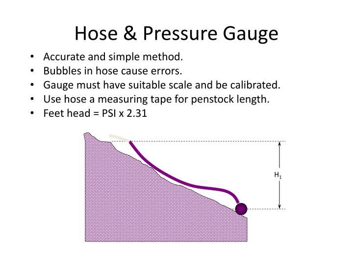 Hose & Pressure Gauge