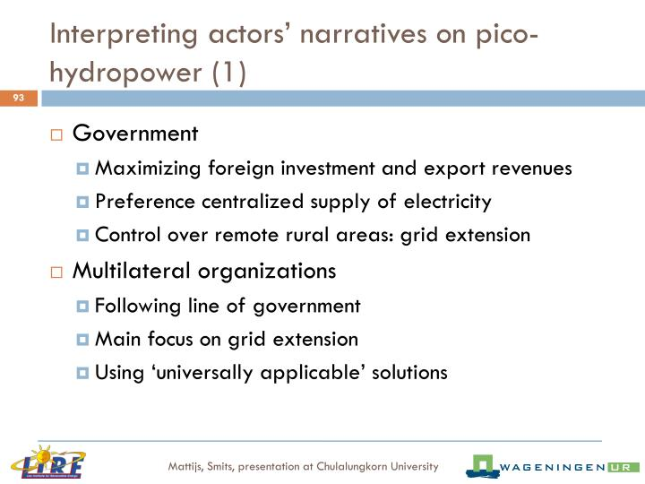 Interpreting actors' narratives on pico-hydropower (1)