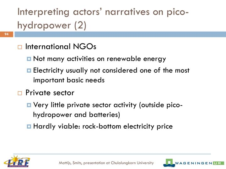 Interpreting actors' narratives on pico-hydropower (2)
