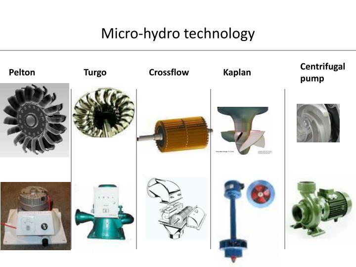 Micro-hydro technology