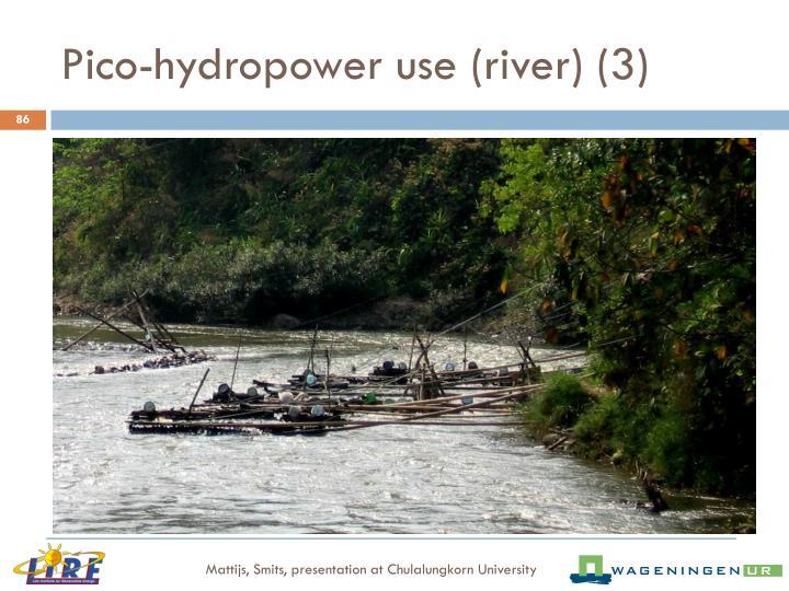 Pico-hydropower use (river) (3)