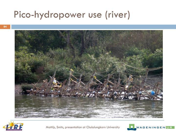 Pico-hydropower use (river)