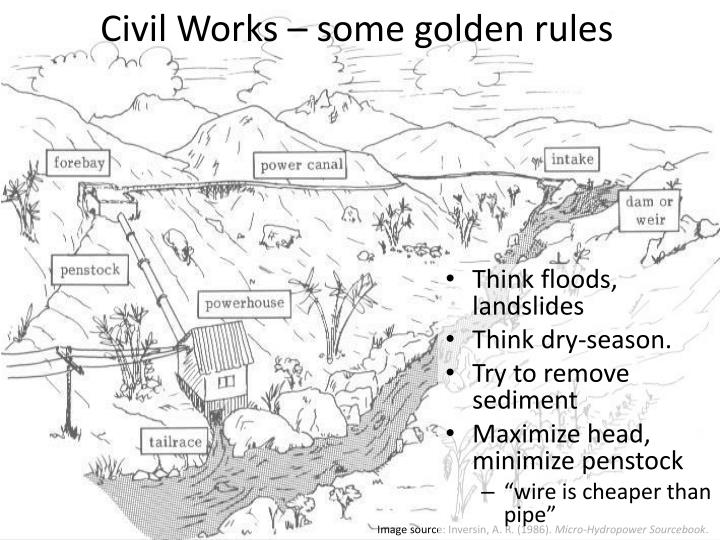 Civil Works – some golden rules