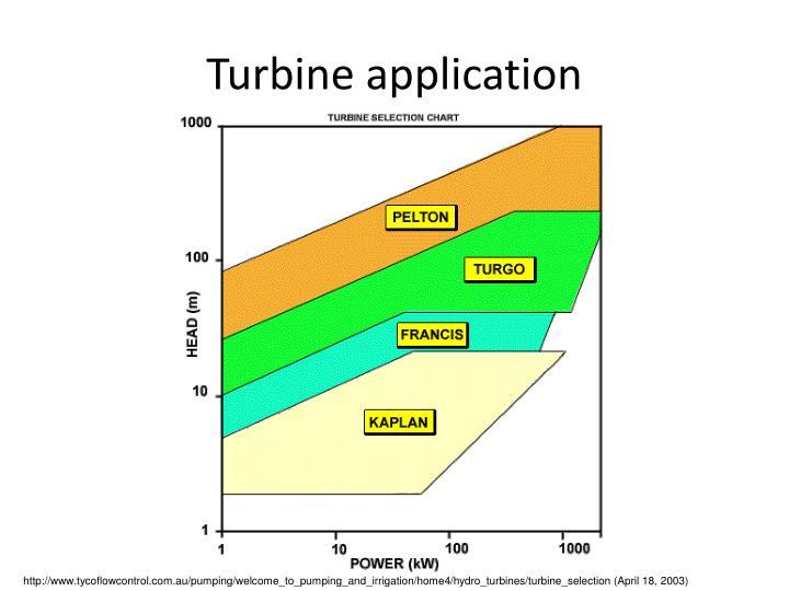 Turbine application