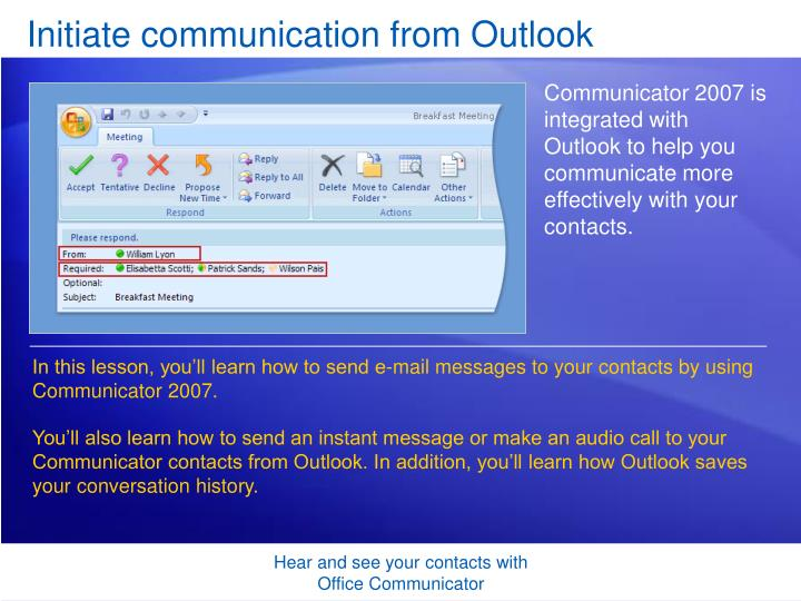 I have microsoft communicator 2007 r2 packaged and working