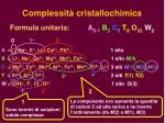 complessit cristallochimica