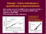 esempi come individuare e quantificare la deprotonazione