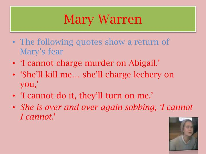 Mary Warren