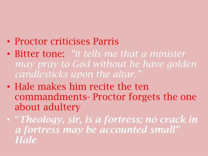 Proctor criticises Parris
