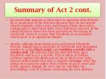summary of act 2 cont