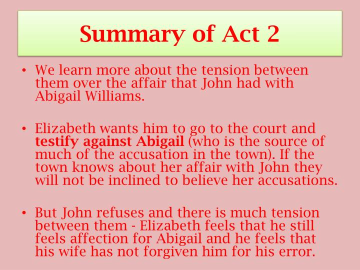 Summary of Act 2