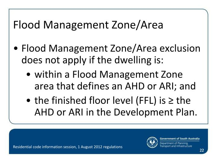 Flood Management Zone/Area