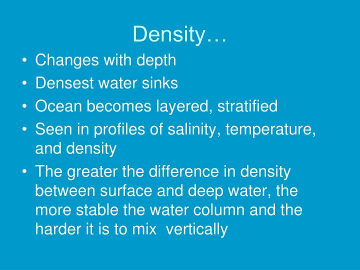 Density…