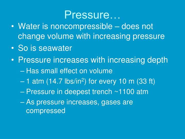Pressure…