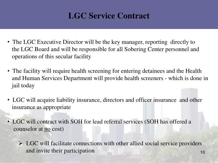 LGC Service Contract