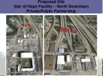 proposed site star of hope facility north downtown private public partnership