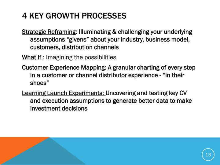 4 Key Growth Processes