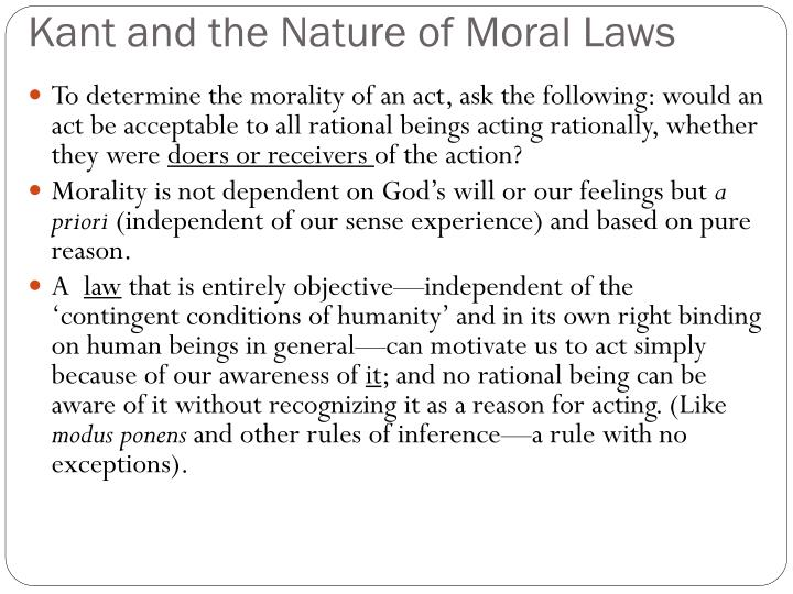 kant demonstration of moral law to be a priori Questions: what is kant's pure moral law and how is it known and validated  does kant rely solely on  is placed, but solely a priori in concepts of pure  reason10  in short, kant's way of demonstrating the possibility of the moral law , through.