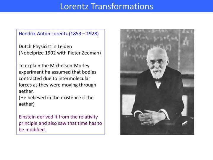 Lorentz Transformations