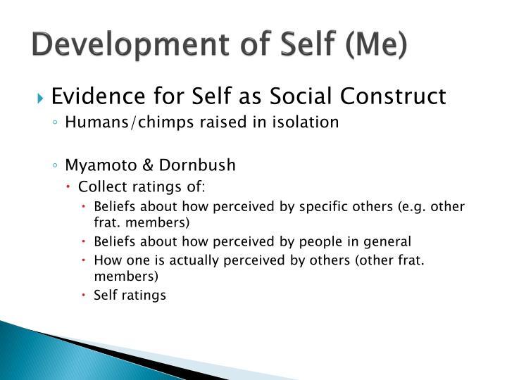 Development of Self (Me)