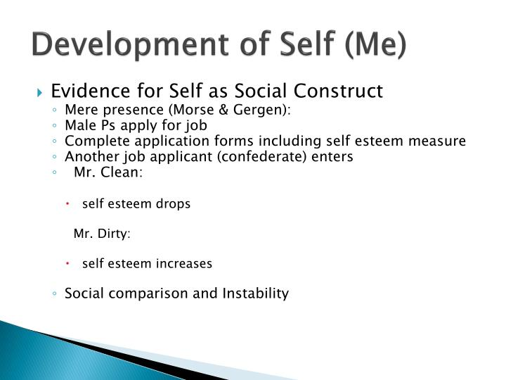 Development of Self (Me)