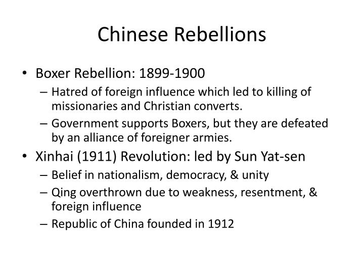 Chinese Rebellions