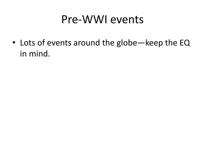 Pre-WWI events