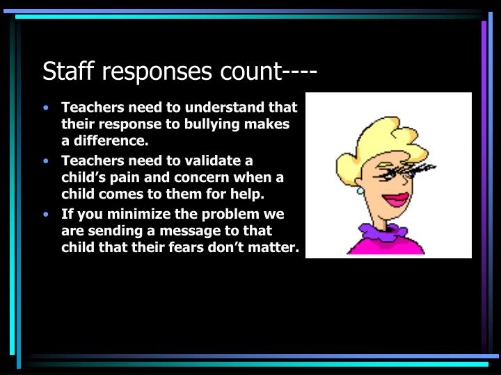 Staff responses count----