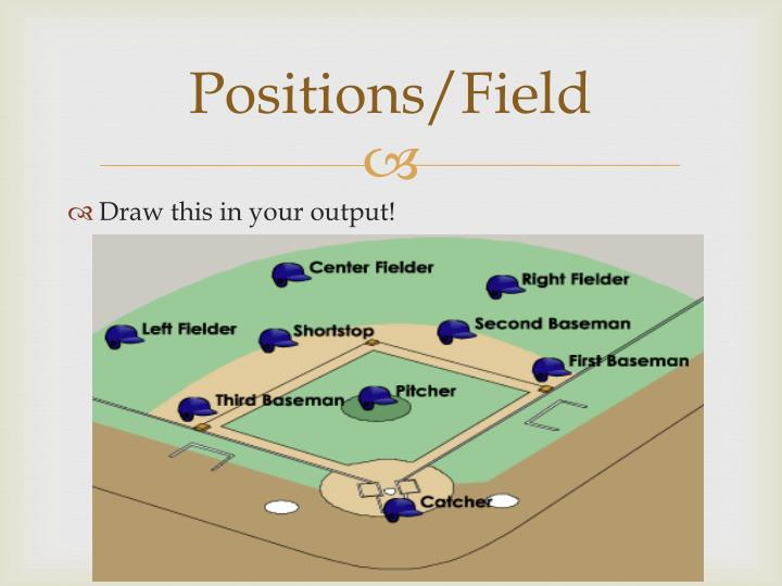 Positions/Field