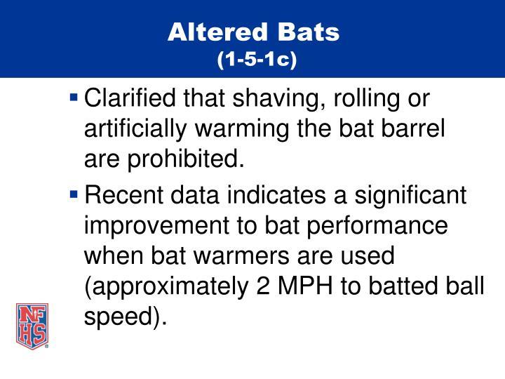 Altered Bats