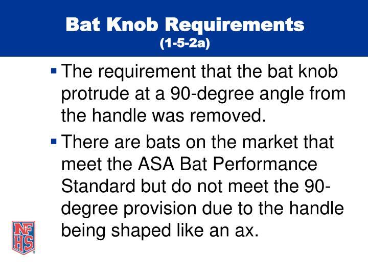 Bat Knob Requirements