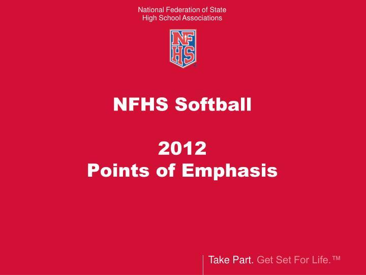 NFHS Softball