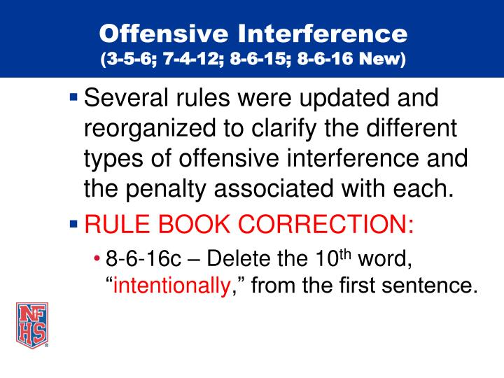 Offensive Interference