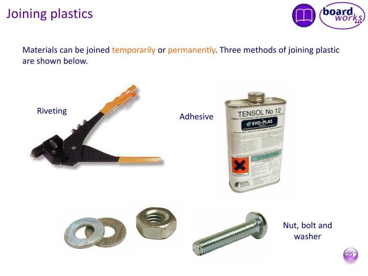 Joining plastics