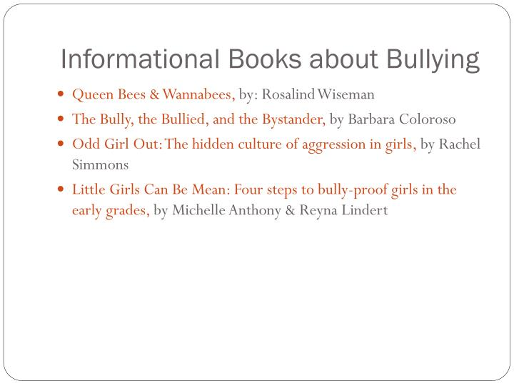 Informational Books about Bullying