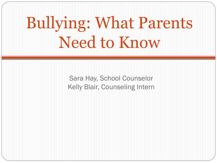 Sara hay school counselor kelly blair counseling intern