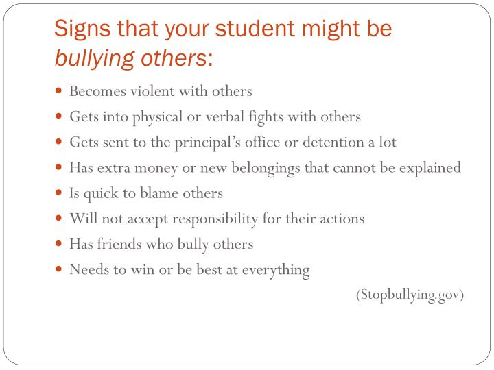 Signs that your student might be