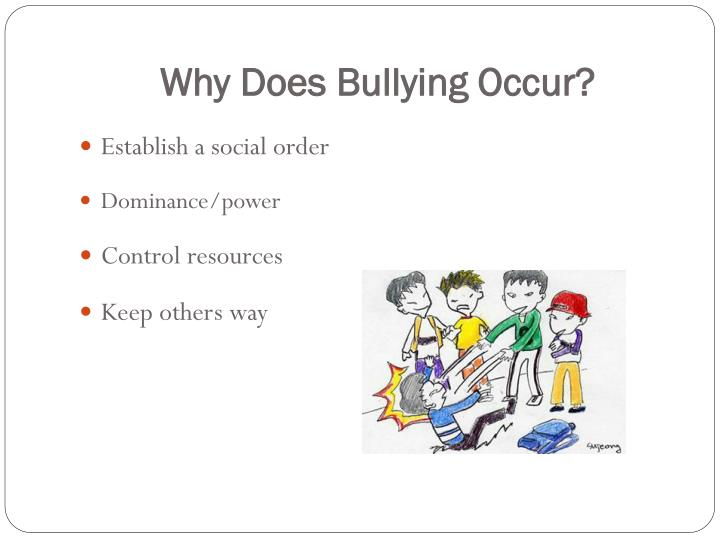 Why Does Bullying Occur?