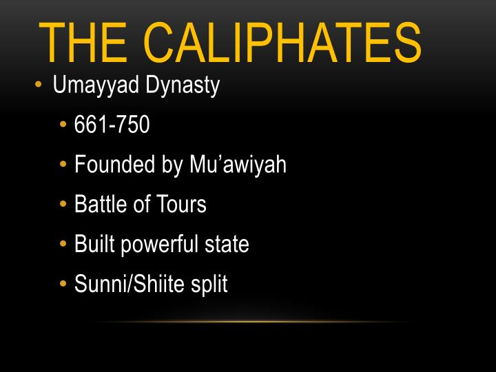 The caliphates