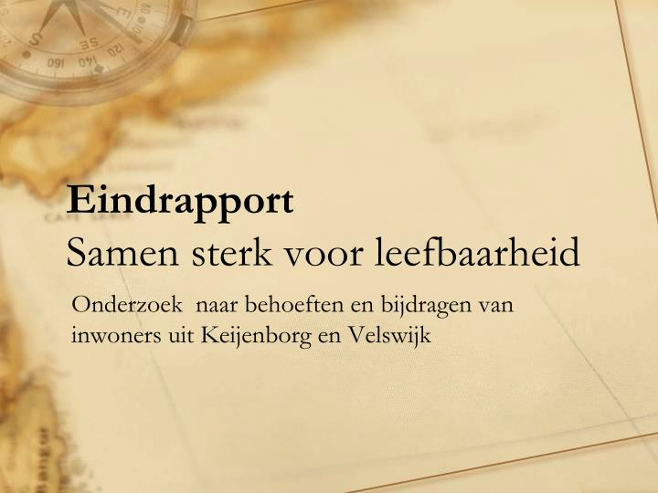 Eindrapport