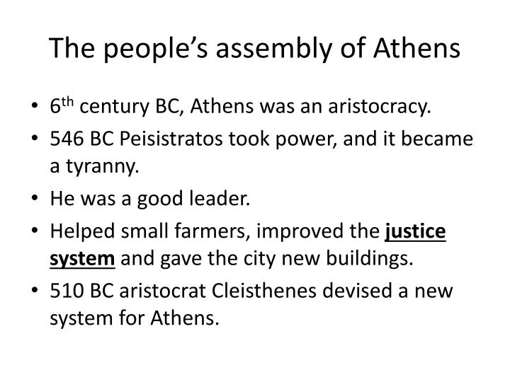 The people's assembly of Athens